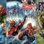 Five covers from Phantacea comics or graphic novels, artwork by Ian Bateson except for pH-5 which Ian finished over Verne Andru's original black and white cover