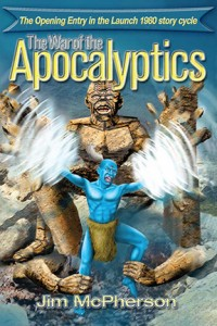 "Cover for E-Versions of ""The War of the Apocalyptics"", artwork by Ian Bateson"
