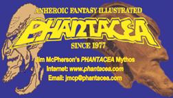 Business card for Phantacea Publications, prepared by Jim McPherson, 2008