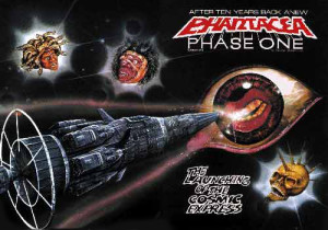 Wraparound cover for Phantacea Phase One #1, artwork by Ian Bateson, ca 1985