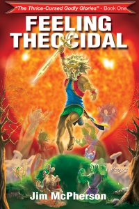 "E-book cover for ""Feeling Theocidal"", artwork by Verne Andru, 2008"