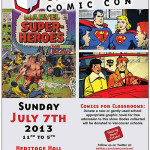 Poster for the July 7, 2013 Vancouver Comic Con