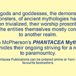 The message side of a business card used by Jim McPherson when out and about on behalf of Phantacea Publications