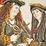 Two pirate women, artwork by Melissa Mary Duncan, 2013