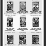 B/w covers of all the novels, mini-novels and graphic novels to date released by Phantacea Publications, prepared by Jim McPherson, 2013