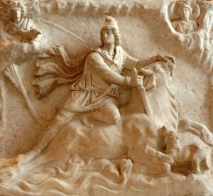 Mithras slays the bull, image taken from web
