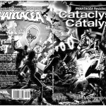 Black and white rendition of Kitty Clysm cover, art by Verne Andru, 2013