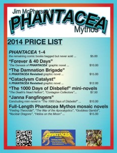 Phantacea Publications price list specific for this year's Vancouver Fan Expo, 18-20 April 2014