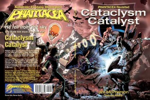 Full colour,  wraparound cover for Cataclysm Catalyst by Verne Andru, 2014;