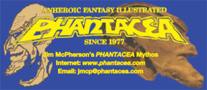 Business card used by Jim McPherson when in Phantacea mode