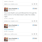Terry Pratchett death tweets