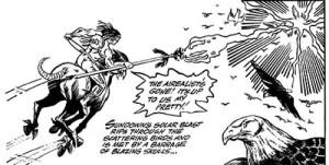 Original artwork from Phantacea Five, drawing by Vince Marchesano et al, 1980