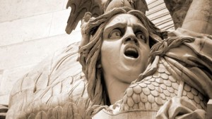 Image taken from BBC Online of part of Francois Rude's sculpture for the Arc de Triomphe in Paris
