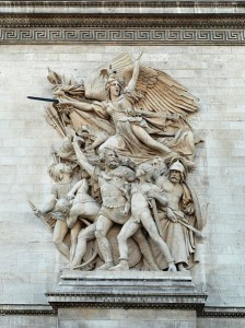The Departure of the Volunteers as it appears on the Arc de Triomphe in Paris