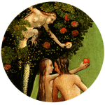 Lilith as Serpent of the Garden by Hieronymous Bosch's Vienna Last Judgement, image taken from web then adjusted by Jim McPherson