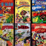 Six superhero covers from Harvey Comics in the 1960s