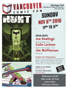 Comicon announcement for November 2016