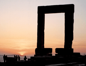 Poseidon Gate on Naxos, shot by Jim McPherson, 2004, on island of Naxos in the Cyclades