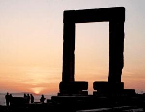 Poseidon Gate on Naxos, shot by Jim McPherson, 2004, on island of Naxos in the Cyclades