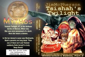 """Tentative Cover for """"Tsishah's Twilight"""", prepared by Jim McPherson in 2004 using images taken from the web"""