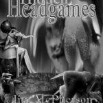 Black and white version of Potential Front Cover for Hidden Headgames. prepared by Jim McPherson, 2017
