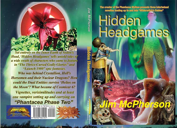 "Full Cover Mockup for ""Hidden Headgames"", prepared by Jim McPherson, 2017,"