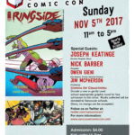 Advisement for Nov 5, 2017 Comicon