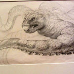 Harryhausen's sketch of Charybdis, taken by Jim McPherson at the Tate Britain, 2017