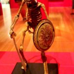 Model of a skeletal warrior by Ray Harryhausen, shot in Tate Britain by Jim McPherson, 2017
