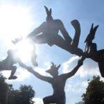 Sun dancers against sun; photo by Jim McPherson, August 2017, taken in London England