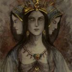 Witch Queen Hecate as the Triple Goddess, unaccredited image taken from Web