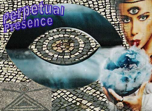 Pyrame Silverstar as the Perpetual Presence, collage prepared by Jim McPherson using some of his own pictures, 2004