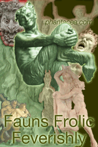 Collage of fauns frolicking, prepared by Jim McPherson, 2011