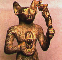 Image of Egyptian Goddess identified as Bastet, taken from the Web