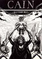 Cover from Cain, Slayer of Abel, artwork by Ian Fry, 1988