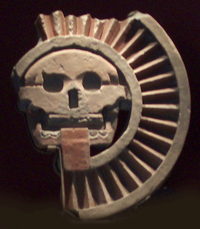 A skull-headed deity shot in Mexico by Jim McPherson, 2005