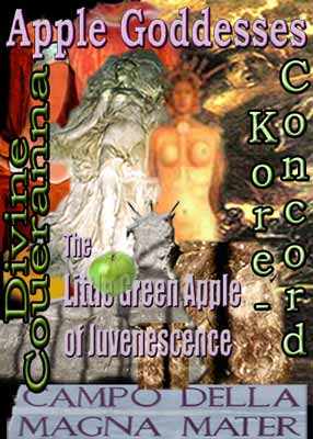 Apple Goddess Collage most specific to Divine Coueranna, graphic prepared by Jim McPherson, 2008