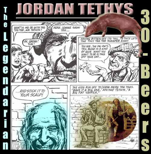 Collage containing images suggestive of Jordan Tethys, the legendary 30-Year Man