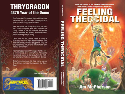 "Full Cover for ""Feeling Theocidal"", a PHANTACEA Mythos Print Publication, Artwork by Verne Andru, 2008"
