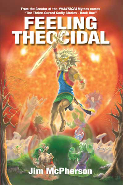 "Front Cover for ""Feeling Theocidal"", a PHANTACEA Mythos Print Publication, Artwork by Verne Andru, 2008"