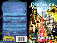 Front and back cover for Contagion Collector, artwork prepared by Jim McPherson, 2010