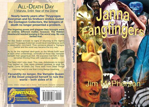 Front and back covers for Janna Fangfingers, prepared by Jim McPherson, 2011