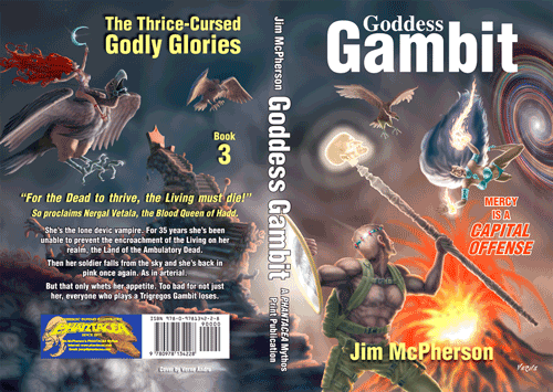 Full cover for Goddess Gambit, artwork by Verne Andru, 2012