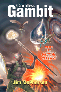 Front Cover for Goddess Gambit, artwork by Verne Andru, 2011/12