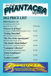 Price list prepared by JIm McPherson, 2012