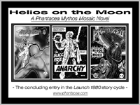 B/w promos for the Launch 1980 story cycle, prepared by Jim McPherson, 2014, utilizing panels from the Phantacea comic book series