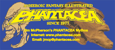 Blue phantacea.com Logo, prepared on PHOTOSHOP by Jim McPherson, 2008