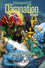 Front cover for Damnation Brigade graphic novel, artwork by Ian Bateslon, 2012; touch-up by Chris Chuckry, 2012ig
