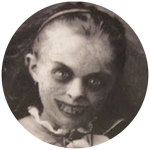 Spooky, black-eyed girl scanned in from Fortean Times by Jim McPherson, 2015