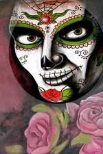 Flower face painting shot in Mexico, 2015